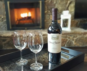 Enjoy a glass of wine in front of a crackling fire in our open fireplace.